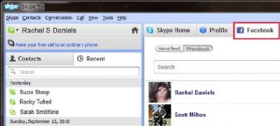 Facebook ve Skype Güçlerini Birleştiriyor