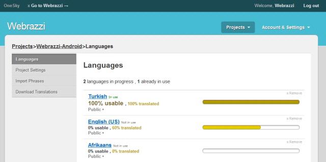 OneSky ile Uygulamalarınızı Facebook ve Twitter Gibi Dünya Dillerine Açın