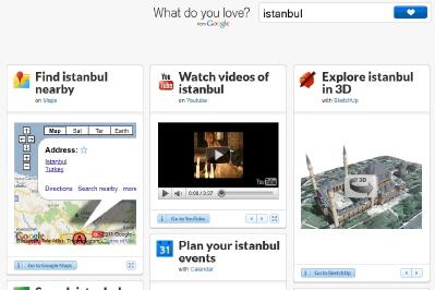 """Google'dan Web Servislerine Açılan Yeni Bir Portal: """"What Do You Love?"""""""