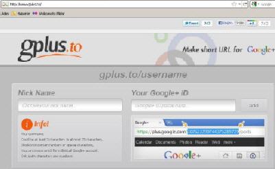 gplus.to ile Google Plus Url'nizi Kısaltın