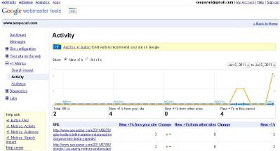 Google WebMasterTools'ta +1 Eklentisi