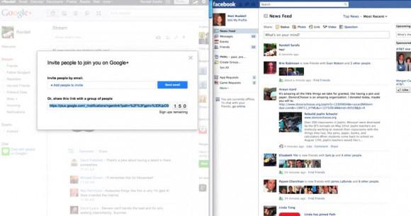 Facebook Google+ Davetiye Bağlantılarının Paylaşılmasını Engelliyor mu ?