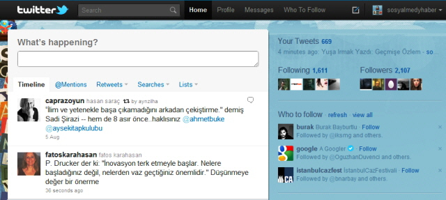 Twitter Kullanıcılarını Yeni Tasarımına Geçirdi
