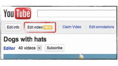 YouTube'a Video Düzenleme Aracı Geldi