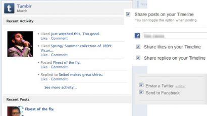 Tumblr'dan Facebook desteği!