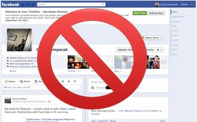 Facebook Zaman Tünelini Kaldırmak