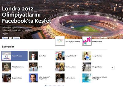 Facebook'tan Olimpiyatlara Özel Sayfa