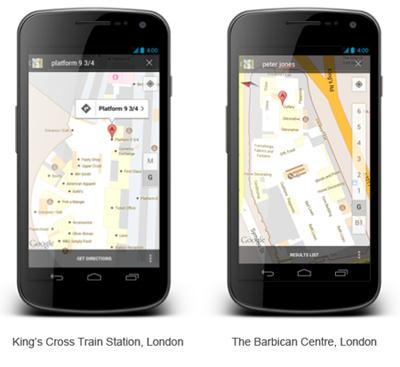 Google Maps Binaların İçinde
