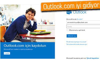 Outlook.com İki Haftada 10 Milyon Kullanıcıya Ulaştı