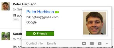 Gmail'e Yeni Bir Google+ Özelliği Daha Geldi