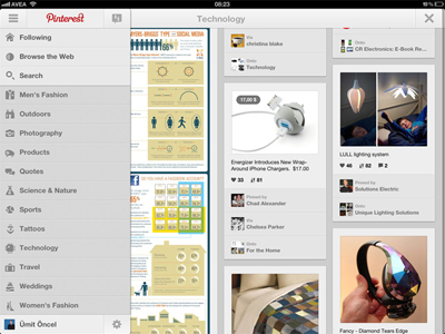 Pinterest Sonunda iPad Ve Android'e Geldi