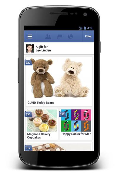 """Facebook Gifts Servisiyle """"Gerçek"""" Hediye Gönderimine Başlıyor"""