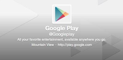 Google Play Twitter'a Geldi