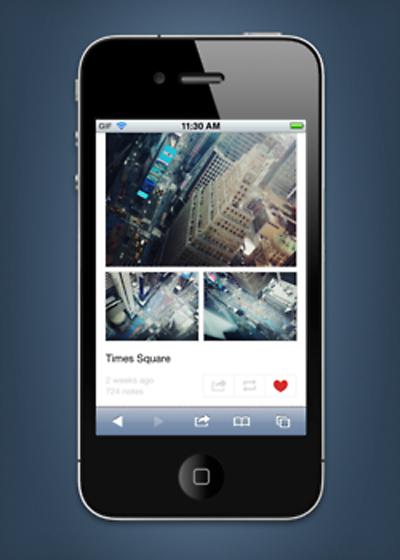 Tumblr Mobil Arayüzünü Yeniledi