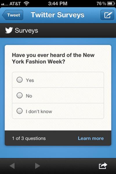 Twitter, Twitter Surveys İle Reklam Verenlere Ana Sayfa Üzerinden Anket Yapma İmkanı Sunuyor