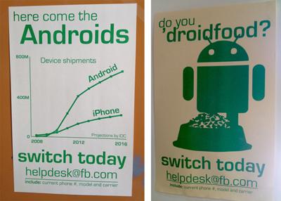 Facebook Ofisinde Android Posterleri