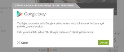 Google Play De Yorumlar Artık Gerçek İsimlerle Yapılaca
