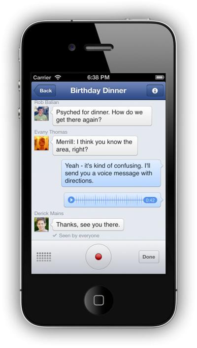 Facebook Messenger ile Sesli Mesaj Yollayın