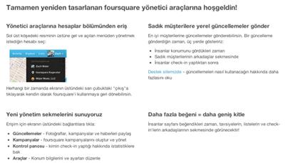 Foursquare For Business Çıktı