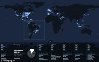 Twitter'ın Gerçek Zamanlı Haritası
