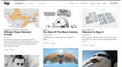 Digg'in Trafiği Yeniden Faaliyete Geçmesinden Sonra Yükseldi