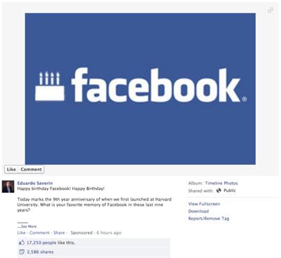 Facebook Dokuz Yaşında!