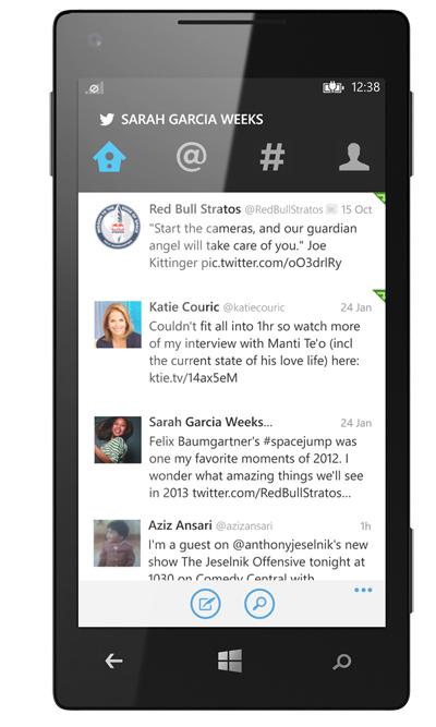 Twitter Windows Phone Uygulamasını Yeniledi
