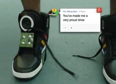 Google'ın Yeni Prototip Ürünü 'Konuşan Ayakkabı'