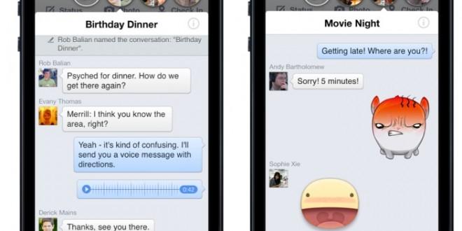 Facebook'un Sohbet Balonları Jailbreak Edilmiş iPhone'ların Her Yerinde