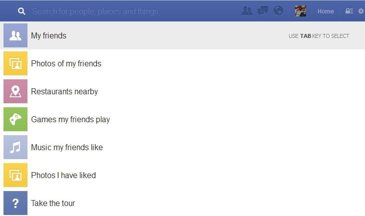 Facebook'un Arama Çubuğu Değişti. Graph Search'ün Sesleri
