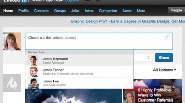 Linkedin'e Etiketleme Özelliği Geldi!